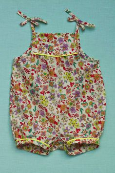pattern: Ottobre 3/2011, scallop shell short overalls, #3, page 21. fabric: Spotlight (NZ)