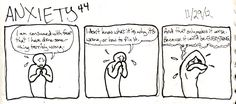 Anxiety - YES.  Exactly like this.
