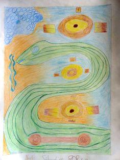 9ème Art aborigène  Crayons de couleur