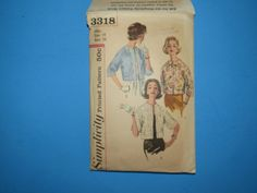 Vintage Simplicity Printed Pattern 3318 Misses Set of Jackets Size 18 Bust 38 by mariehotdeals on Etsy