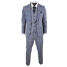 Costume Homme Gris Bleu Carreaux Prince de Galles 3 pièces Style Tweed  années 20 Peaky Blinders Coupe Slim  costumes  costumesnearme   costumesdeutsch ... f2c443a941c