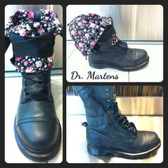 Dr. Marten floral combat boots that I LOOVVEE, just might have to get them!! <3