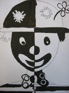 ZŠ Čakovice - výtvarná výchova - Fotoalbum - Ukázky prací - šestý ročník - Klauni Wire Crafts, Diy And Crafts, Clown Crafts, Childhood Education, Aesthetic Art, Projects To Try, Techno, Drawings, Creative