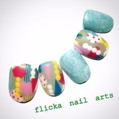 「 垂らしこみアート 」の画像|茨城県水戸市プライベートネイルサロン flicka Nail Arts|Ameba (アメーバ)
