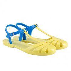 Sandalias cangrejeras en amarillo de Igor