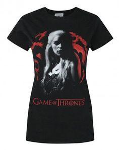 Game of Throne House Targaryen Sigil Daenerys Junior Girl Women Tee Crew T-Shirt