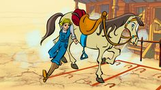 Coulortest of Lucy and horse