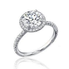 Diamond Engagement Ring 1.46 Ct Round Cut Halo Design 14K Gold Limited Sale EGL. $2,534.25, via Etsy.