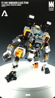 https://flic.kr/p/S9WYYV | FS-1041 Vanguard Class Titan (Titanfall 2) | Legion Loadout (Predator Cannon) The Vanguard-class Titan is the Militia's first self-made titan chassis, because of this the Militia no longer had to steal IMC Titans from the production lines to maintain their Titan fleet. Titanfall Wiki --- Build notes: You can find more about the build in my blog article :D --- More info, WIP details, and other LEGO mechs over at my blog: messymaru.wordpress.com/ Facebook: w...