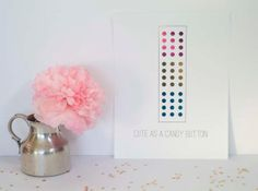 Cute as a Candy Button Gold Foil Print by AllThingsPrettyBlog, $24.95