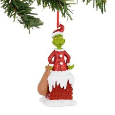 Department 56 Grinch Grinch in Chimney Ornament