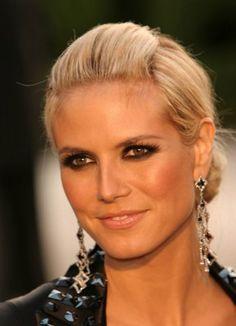 Dramatic Evening Makeup for Brown/Hazel Eyes - Heidi Klum