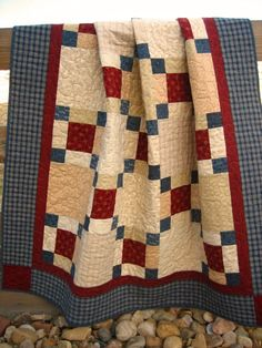 Crossing Paths Quilt  Handmade quilt Lap by PatchworkMountain