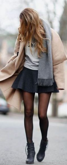 This is one of the cutest outfits with tights!