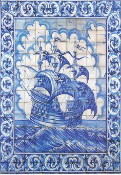 My inspiration this week! Tile Murals, Tile Art, Mosaic Tiles, Delft Tiles, Portuguese Culture, Portuguese Tiles, Macau, Decoupage Vintage, Iron Work