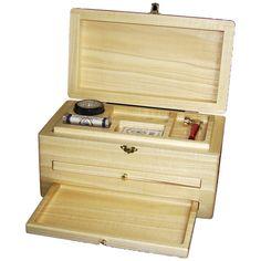 "Stash Box, Marijuana,- THE BROADMOOR - Locking Marijuana Stash Box, Colorado Aspen, 7""W X 12""L X 6"" H."