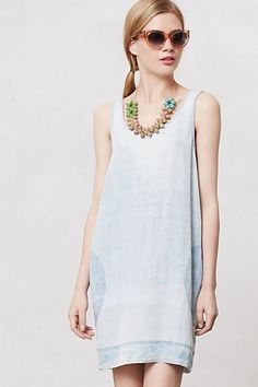 Noontide Chambray Shift - the back is really cute too, but won't pin. #anthropologie