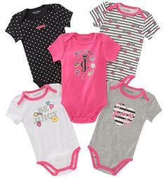 3383bdf6b Best Seller Juicy Couture Baby Girls 5 Packs Bodysuit online