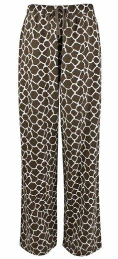 Amazon.com: Leisureland Women's Cotton Knit Pajama Sleepwear Lounge Pants Giraffe Print: Clothing