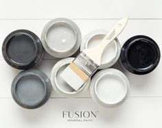 Hmmmm Cant decide Then dont  Take them all and start the carrrrr elope getaway pretty colour color blackandwhite paint decisions choose choices potsofpaint fusionmineralpaint black white grey gray neutral paintitbeautiful thursdayisthenewfriday thursdaynight homedecor refresh