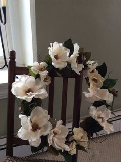 Southern Blooms Magnolia wreath by TheColonialDoorstep on Etsy