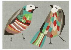 Birds art print: The Speculators A4 open edition