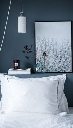 decor with plants decor grey and pink decor blue and white decor navy blue bedroom decor decor ideas diy decor shops bedroom decor Blue Gray Bedroom, Blue Rooms, Blue Walls, Bedroom Colors, Bedroom Decor, Design Bedroom, Grey Wall Bedroom, Bedroom Ideas, Grey Bedrooms