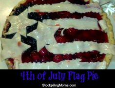 4th of July Flag Pie Recipe is the perfect dessert recipe for picnics and parties!
