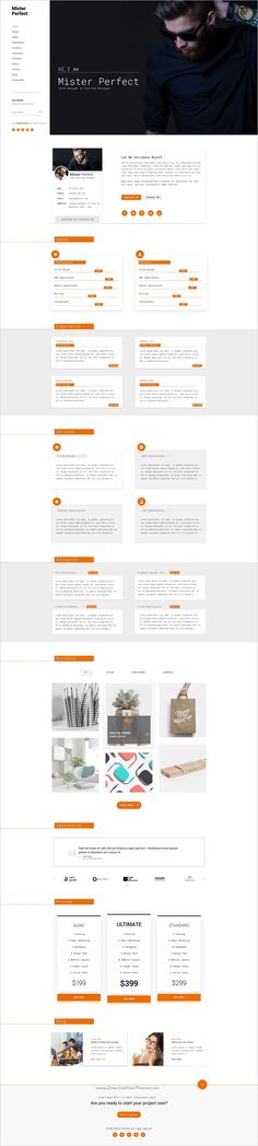 AM- Personal CV \/ Resume \ Portfolio Template Psd templates and - personal resume website template