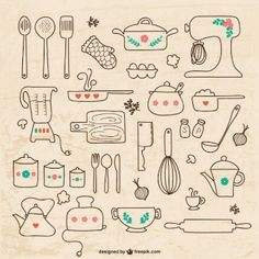 Utensilios de cocina dibujos