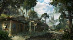 """""""Fantasy Viking Village"""". By Aballom."""