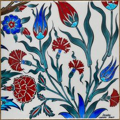Naturalist - evaniler - İznik Vakfı Turkish Tiles, Turkish Art, Ceramic Tile Art, Boho Home, Ceramic Figures, Arabic Art, Art Object, Islamic Art, Clay Art