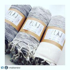 #Repost @makenew with @repostapp. ・・・ TURKISH DELIGHTS. #madeinturkey @plajtowels Wear as a scarf, wrap or shawl. Use as a towel, throw or blanket. #somanyoptions #cotton #handloomed #handmade #turkishtowel
