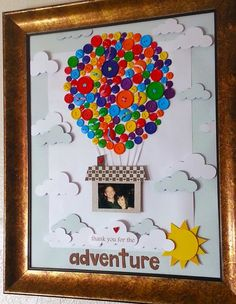 My buttons project! Ginormous scrapbook page for my wall.  So much Love!:                                                                                                                                                                                 Más