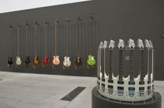 Unplayable guitars. Rudi Mantofani, Nada yang hilang (The lost note), 2006-07 (left); Nada yang hilang (The lost note), 2008 (right).