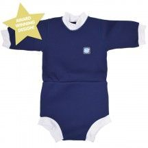 Splash About Happy Nappy Diaper Wetsuit Navy XX Large 2-3 Years, Blue