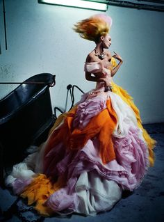 cotton candy, fashion, christian dior, candice swanepoel, dresses, magazines, gown, v magazine, haute couture
