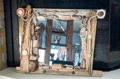 FantaSea - Made by Natassa Klavdianou Driftwood Mirror, Fantasy, Sea, Frame, Home Decor, Picture Frame, Decoration Home, Room Decor, The Ocean