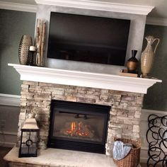 Fireplace and Wainscotting