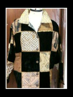 ANDRE VASSELLE batik patch coat