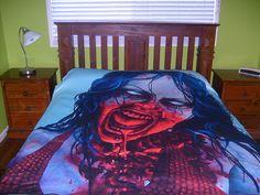 RW2 Zombie Large Fleece Blanket NIGHT LIFE throw by RW2Gallery, $65.00 @Karra Skinfill