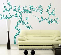 Wall decal, wall sticker, tree decal, vinyl wall decal - 03. $69.00, via Etsy.