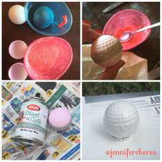 Our golf themed gender reveal party! Golf ball prep... #genderreveal #genderrevealpartry #golfgenderreveal #golfgenderrevealideas