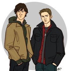 Sam and Dean all cartooned up <3