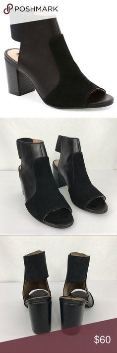 """Kensie Evanna heels Super cute peep-toe slingback heels, 3"""" stacked heel, rubber sole. In excellent used condition. Kensie Shoes"""
