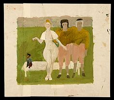 Citation: nude woman with two athletes and a monkey, between 1950 and 1970 . honor sharrer papers, archives of american art, smithsonian institution.