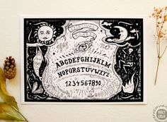 Your place to buy and sell all things handmade Witch Decor, Witch Art, Wiccan, Pagan, Ouija, Supernatural, Vintage World Maps, Art Prints, Illustration