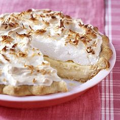 This luscious coconut cream pie is the perfect way to end a meal or celebrate a special occasion.