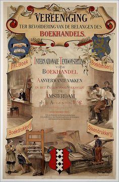 Vereeniging ter bevordering van de belangen des boekhandels. 1817-1892. Het boek . Internationale tentoonstelling voor Boekhandel en aanverwante vakken in het Paleis voor Volksvlkijt te Amsterdam juli-augustus 1892.