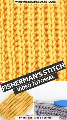 Learn to crochet the fisherman stitch or yarn over slip stitch with this easy to follow video tutorial by Winding Road Crochet. Crochet Hook Sizes, Crochet Hooks, Crochet Stitches For Blankets, Winding Road, Crochet Videos, Yarn Over, Learn To Crochet, Slip Stitch, Free Pattern
